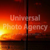 サイパン マイクロビーチの夕陽 / gs02-66a