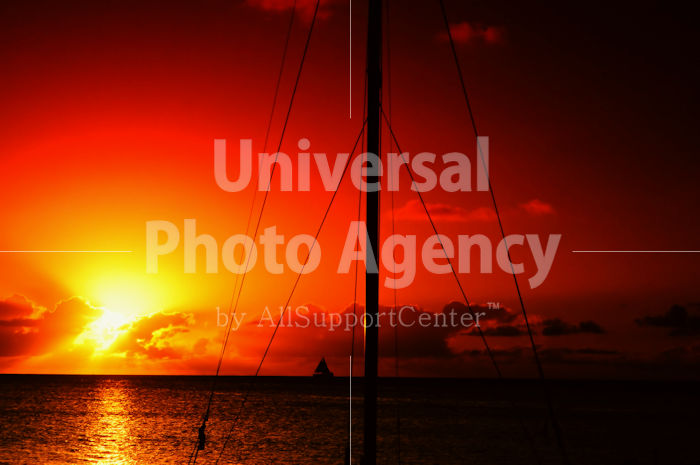 サイパン マイクロビーチの夕陽 / gs02-66b