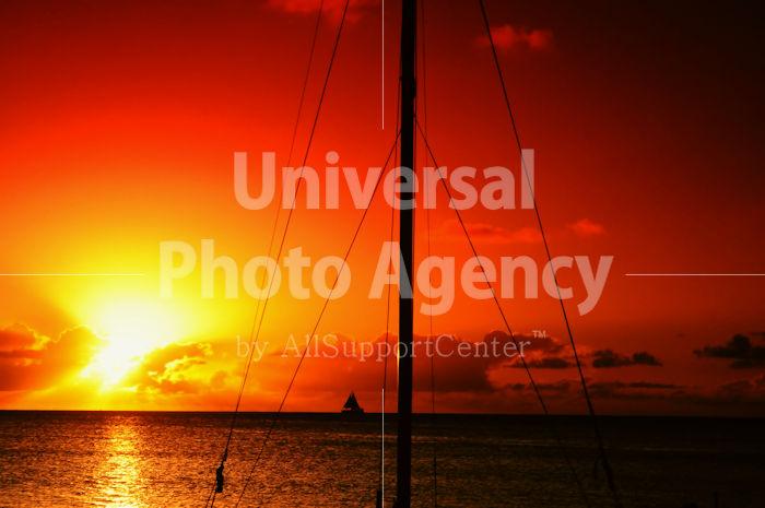 サイパン マイクロビーチの夕陽 / gs02-66c