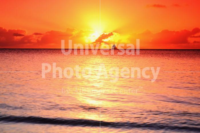 サイパン マイクロビーチの夕陽 / gs02-67a