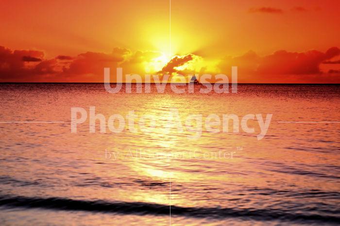 サイパン マイクロビーチの夕陽 / gs02-67b